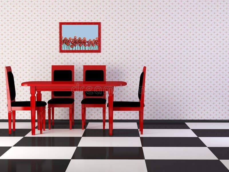 Download Design Interior Of Elegance Vintage Dining Room Stock Illustration - Illustration: 17789247