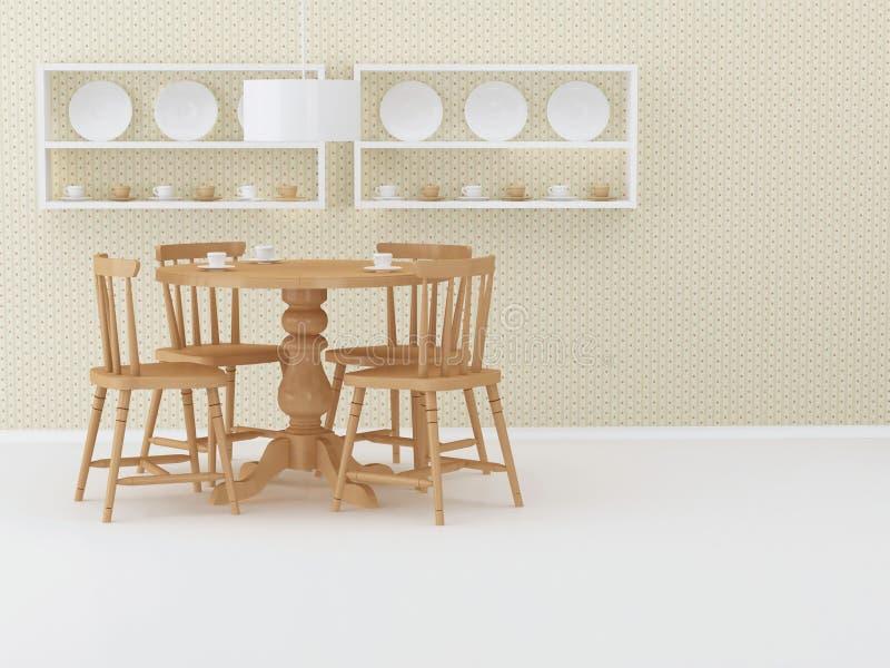 Download Design Interior Of Eleganse Vintage Dining Room Stock Illustration - Image: 17339107