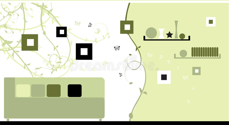 Download Design Interior, Green Style Stock Vector - Image: 16883514
