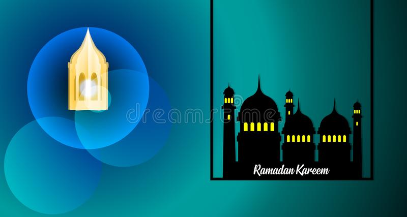 Ramadan Kareem Greeting Card With Traditional Lanterns  Islamic