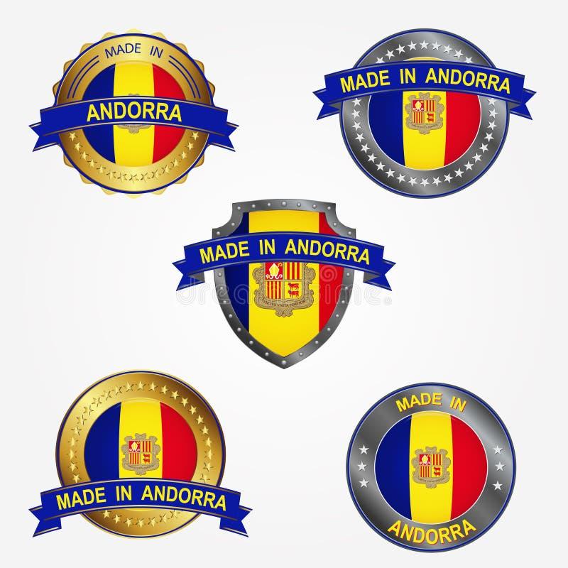 Design label of made in Andorra. Vector illustration royalty free illustration