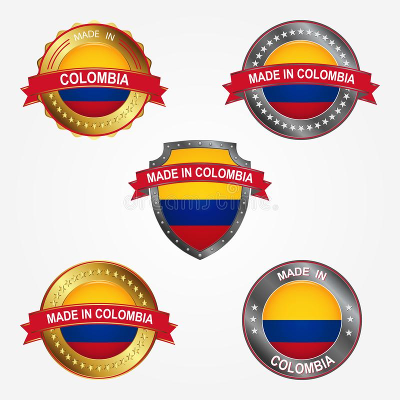 Design label of made in Colombia. Vector illustration stock illustration