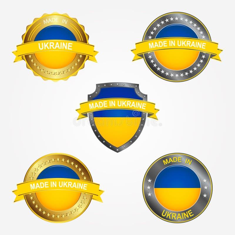 Design label of made in Ukraine. Vector illustration royalty free illustration