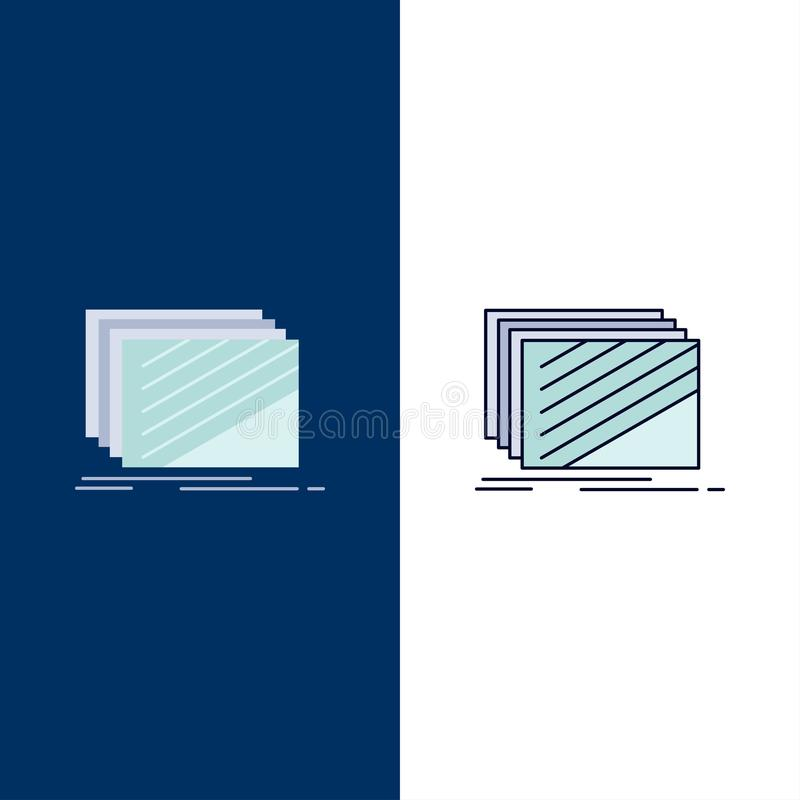 Design, layer, layout, texture, textures Flat Color Icon Vector vector illustration