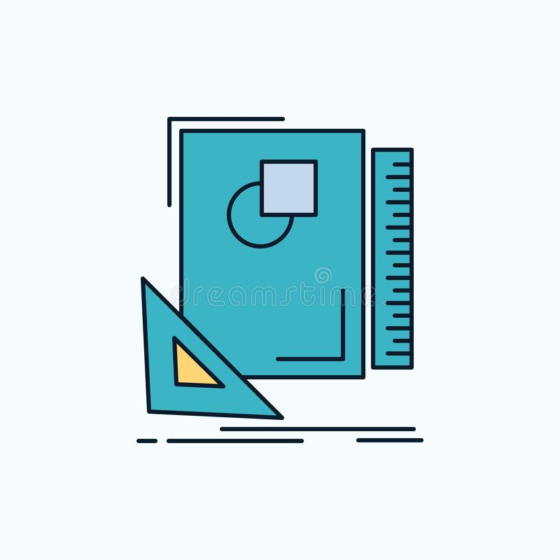 Design, layout, page, sketch, sketching Flat Icon. green and Yellow sign and symbols for website and Mobile appliation. vector. Illustration. Vector EPS10 royalty free illustration