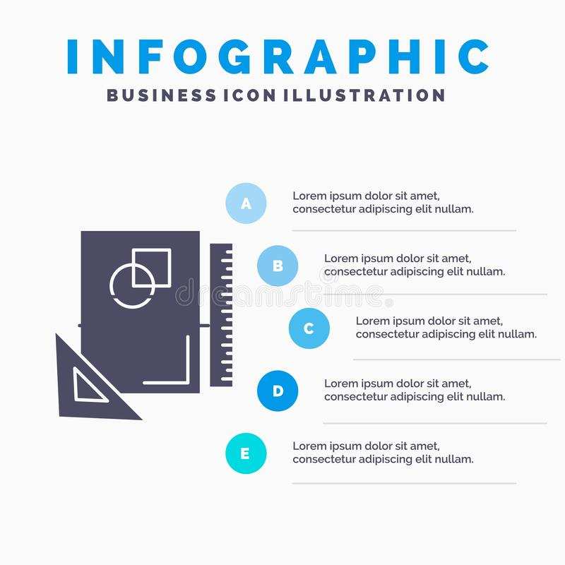 Design, layout, page, sketch, sketching Infographics Template for Website and Presentation. GLyph Gray icon with Blue infographic stock illustration