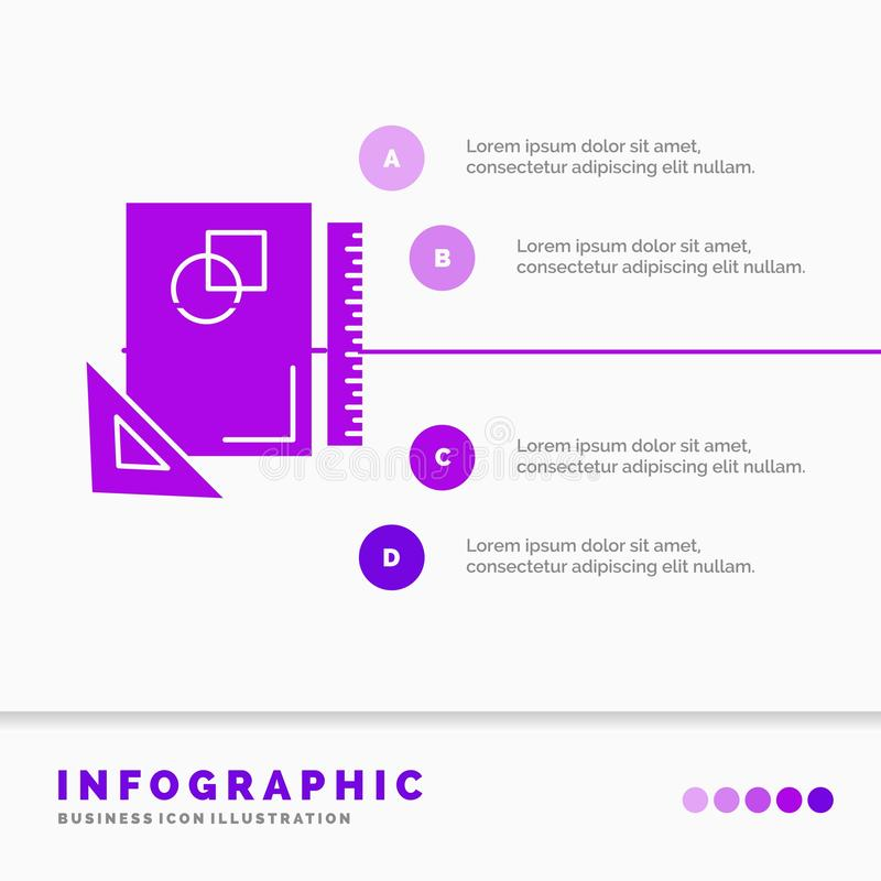 Design, layout, page, sketch, sketching Infographics Template for Website and Presentation. GLyph Purple icon infographic style. Vector illustration.. Vector vector illustration