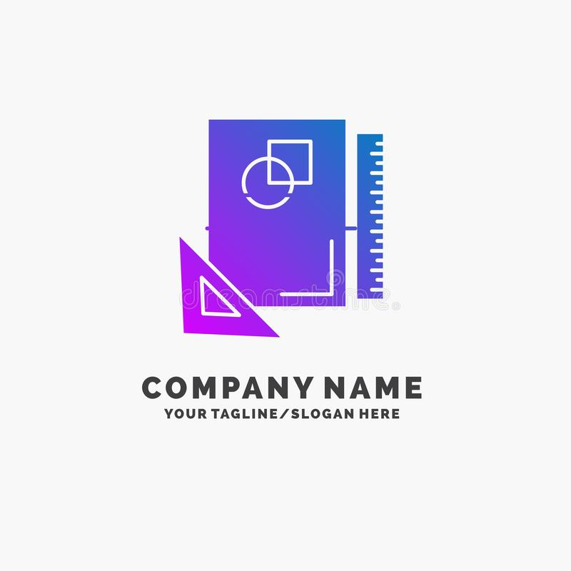 Design, layout, page, sketch, sketching Purple Business Logo Template. Place for Tagline. Vector EPS10 Abstract Template background vector illustration