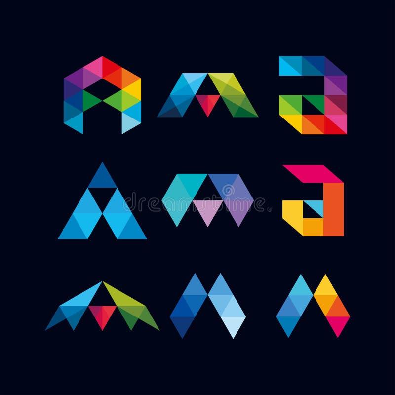 A-Z Alphabet Design Full Color Stock Illustration