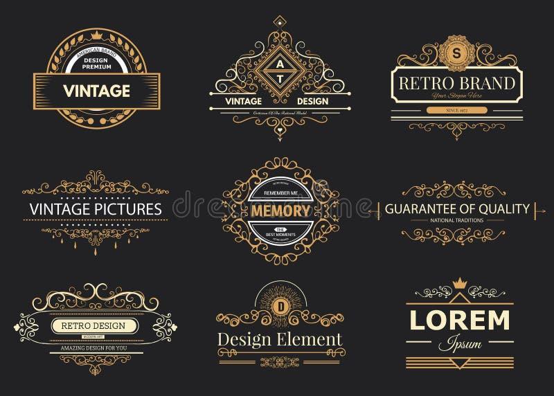 Design logo and monograms vector illustration