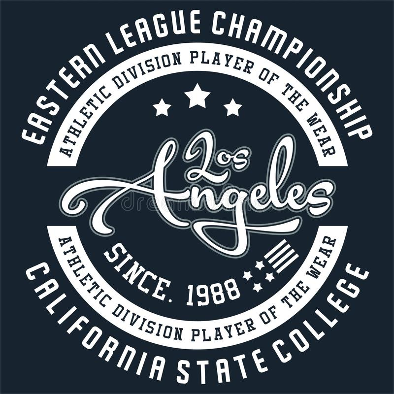 Design Los Angeles stock illustrationer