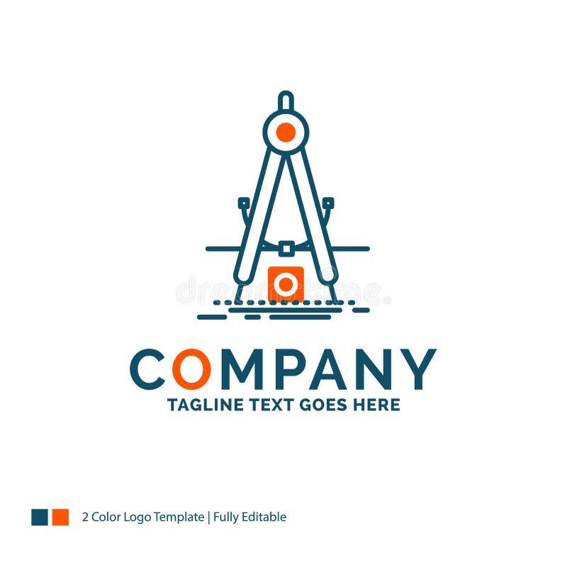 Design mått, produkt, förfining, utveckling Logo Design B stock illustrationer