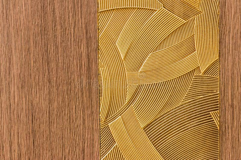 Design made by a combination of lines pattern. With wood like background royalty free stock images