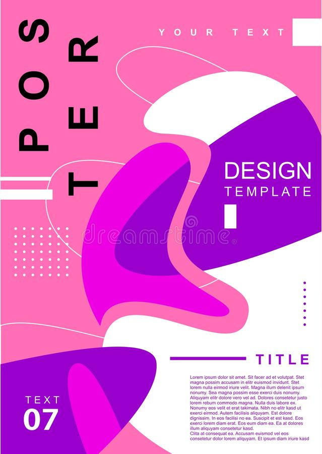 Design templates for posters with background stock illustration