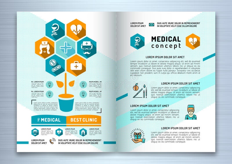 Design Medical Brochure Template A Size Catalog Health And Beauty