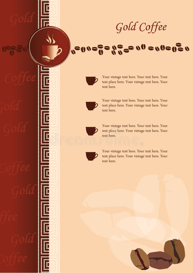 Design of menu for coffee shop and restaurant stock images