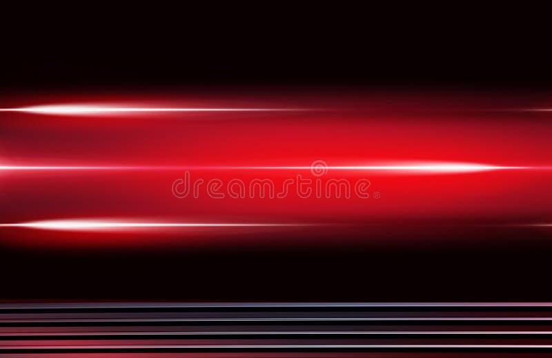 Design mit roten Neonelementen stock abbildung