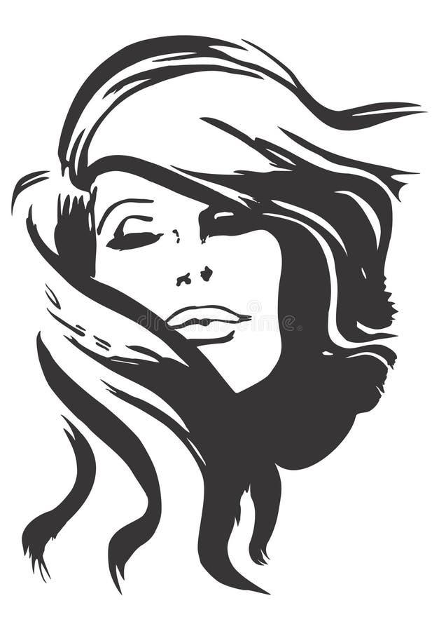 Download Design model of face. stock vector. Image of women, white - 4410801