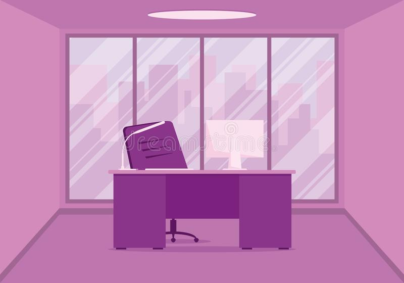 Design of a modern office designer workplace in pink royalty free stock images