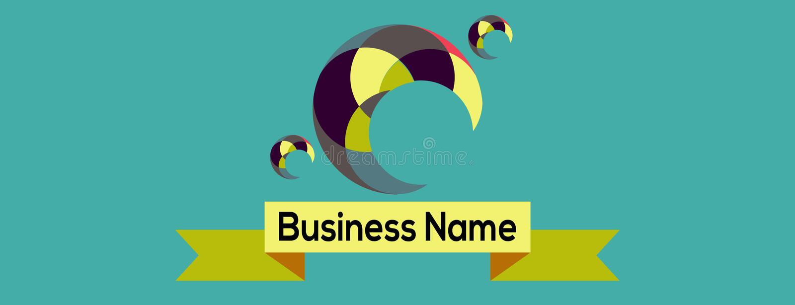 Design Modern Simple Business Logo. Place For Your Name Business, Text stock illustration