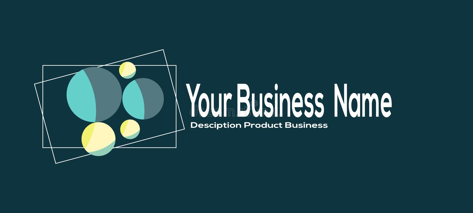 Design Modern Simple Business Logo. Place For Your Name Business, Text vector illustration