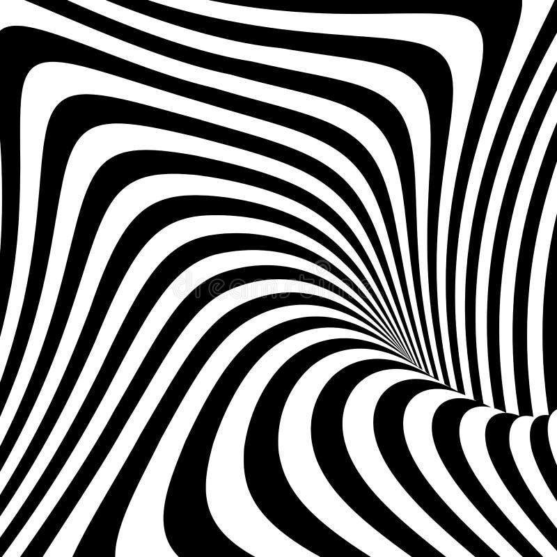 Design monochrome movement illusion background royalty free illustration