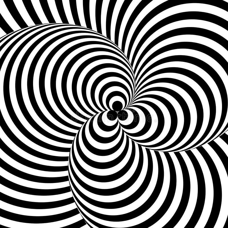Design monochrome twirl circular background stock illustration