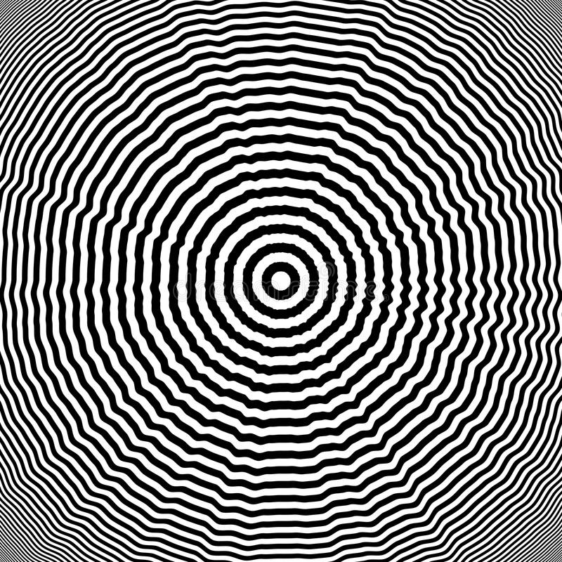 Design monochrome whirl illusion background. Abstract striped lines distortion backdrop. Vector-art illustration vector illustration