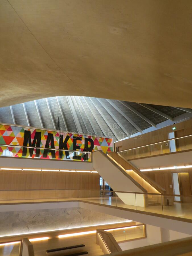 Design Museum interior royalty free stock image