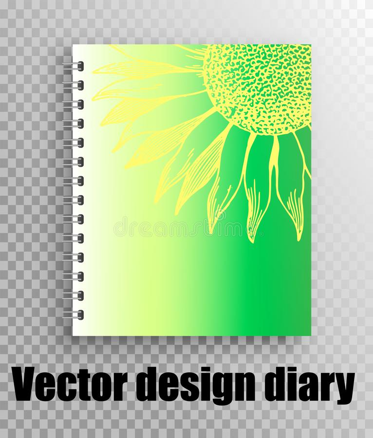 Design for notebook, diary. Online store notebooks vector illustration