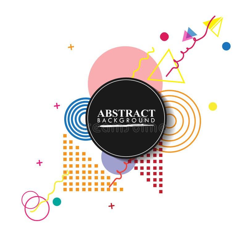 Design och bakgrund för modell för abstrakt cirkelemblem geometrisk med det fyrkantiga emblemet Bruk för modern design som dekore vektor illustrationer