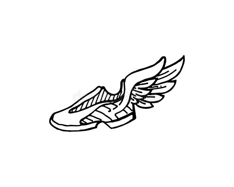 design och logo för skobegreppsgymnastiksko vektor illustrationer
