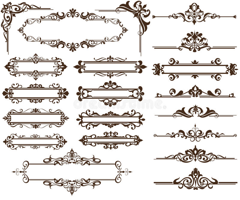 Design ornamet Corners and borders royalty free illustration