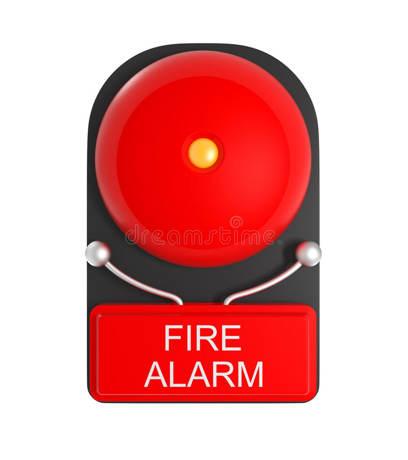 Design Pattern of Red Fire Alarm isolated on white royalty free illustration