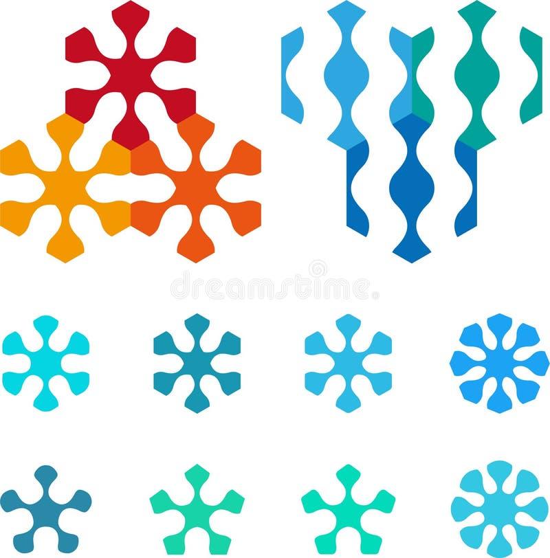 design pentagonal hexagonal logo element royalty free. Black Bedroom Furniture Sets. Home Design Ideas