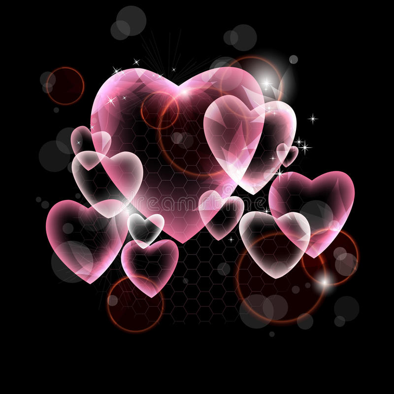 Design of pink hearts