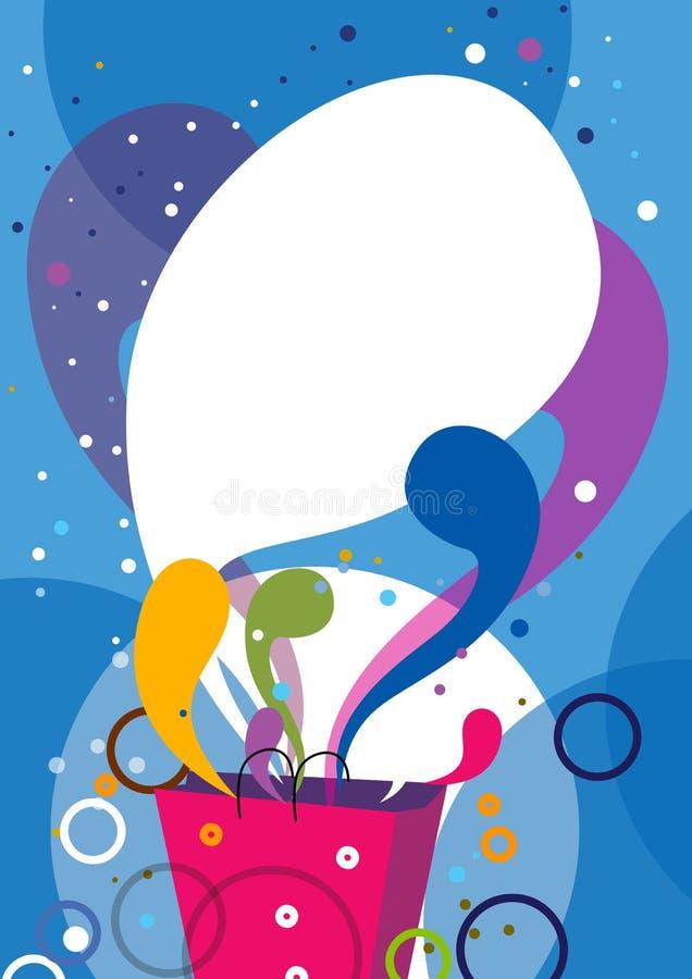 design poster shopping иллюстрация штока