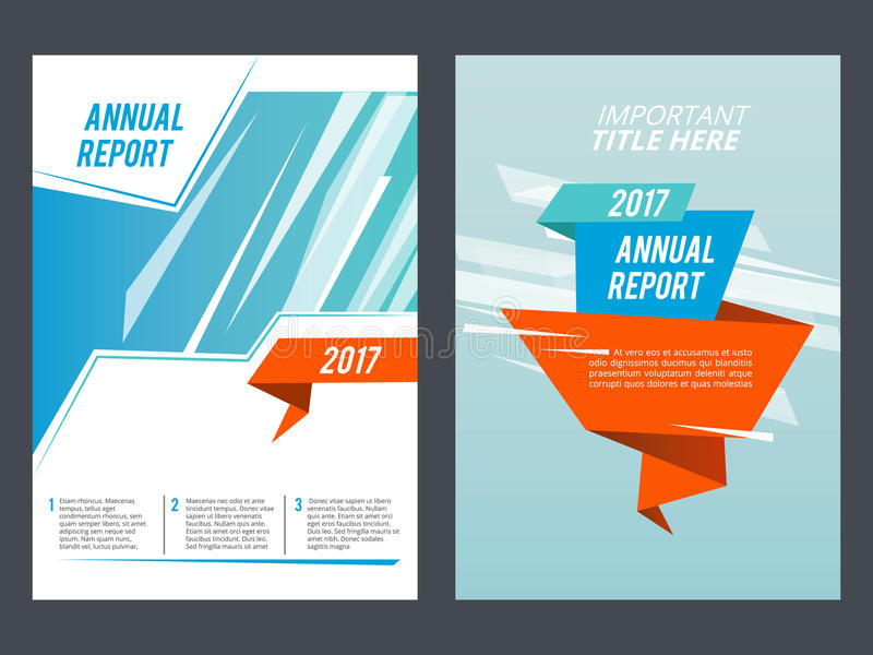 Design presentation. Brochure or annual report layout vector template royalty free illustration