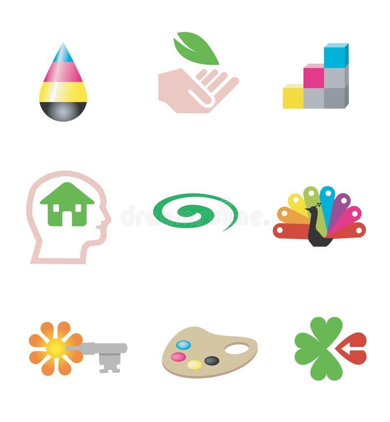Design_print_ecology_icons ilustração stock