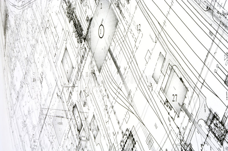 Design and project drawings. stock photography