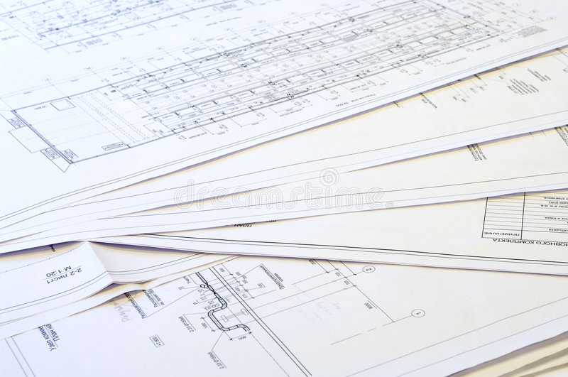 Design and project drawings. stock photos