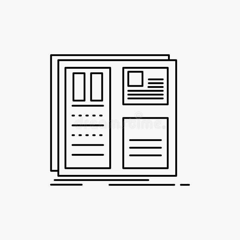 Design raster, man?verenhet, orientering, uilinje symbol Vektor isolerad illustration vektor illustrationer