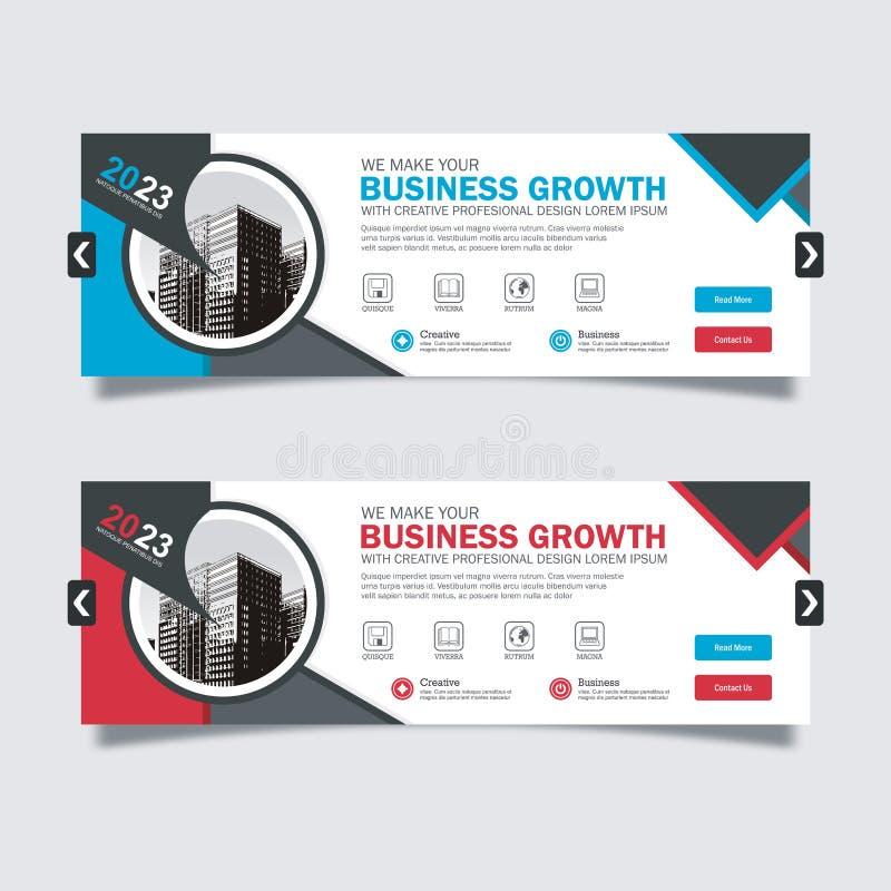 Design scorrevole per applicazioni business con design moderno e alla moda illustrazione vettoriale