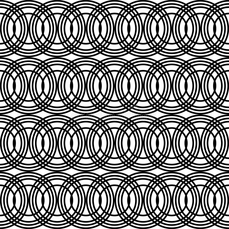 Design seamless chain pattern. Abstract monochrome circle background. Vector art vector illustration
