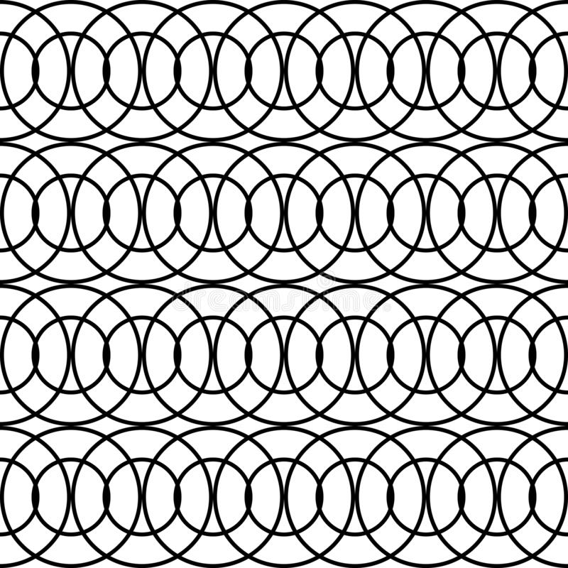 Design seamless chain pattern. Abstract monochrome circle background. Vector art royalty free illustration