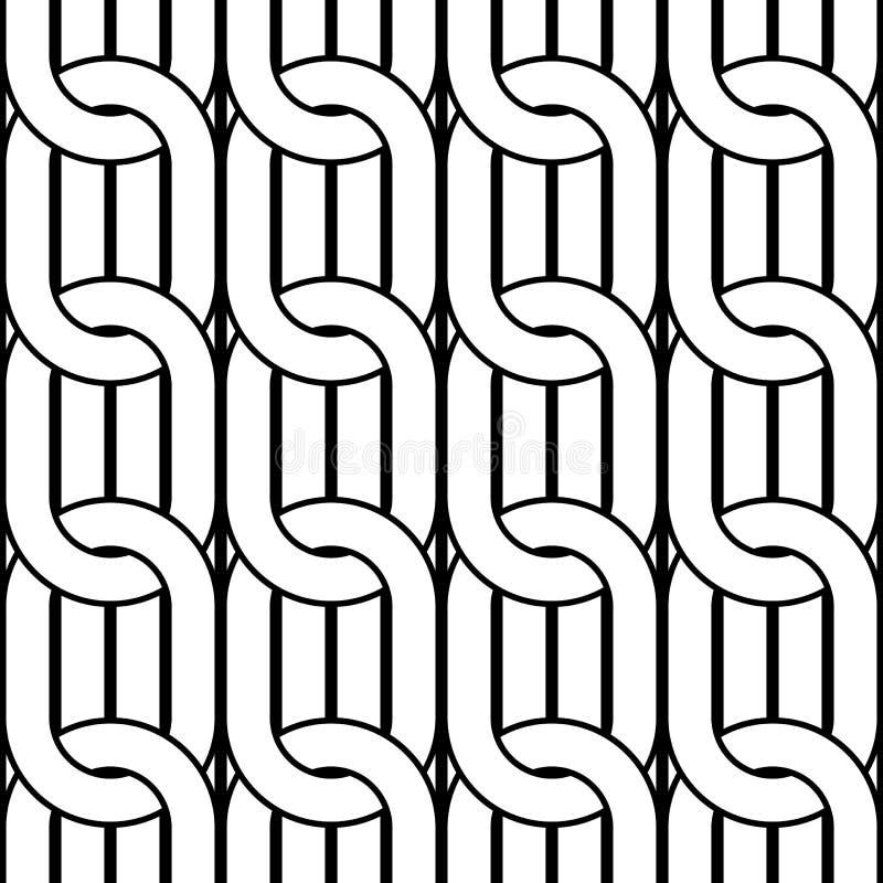 Design seamless chain pattern. Abstract monochrome ellipse background. Vector art stock illustration