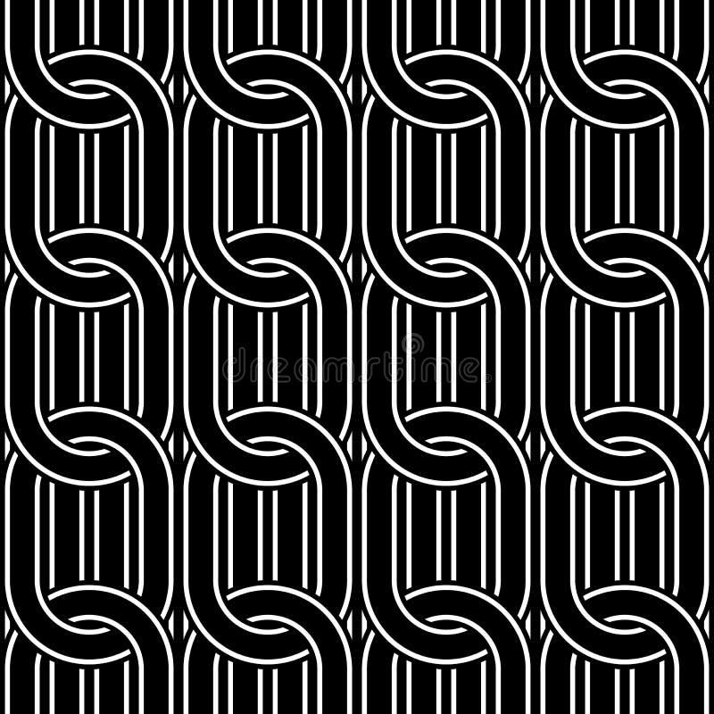 Design seamless chain pattern. Abstract monochrome ellipse background. Vector art vector illustration