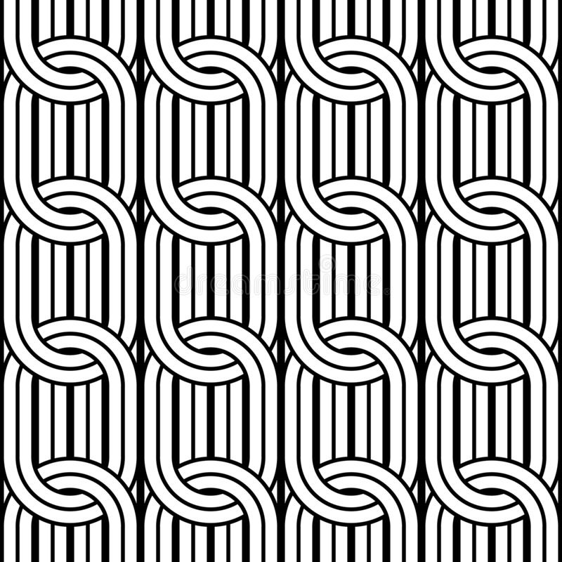 Design seamless chain pattern. Abstract monochrome ellipse background. Vector art royalty free illustration