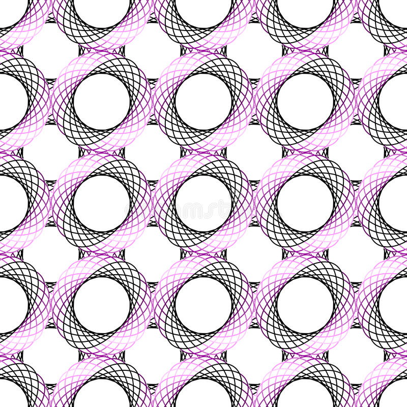 Design seamless colorful geometric pattern. Abstract grid textured background. Vector art stock illustration