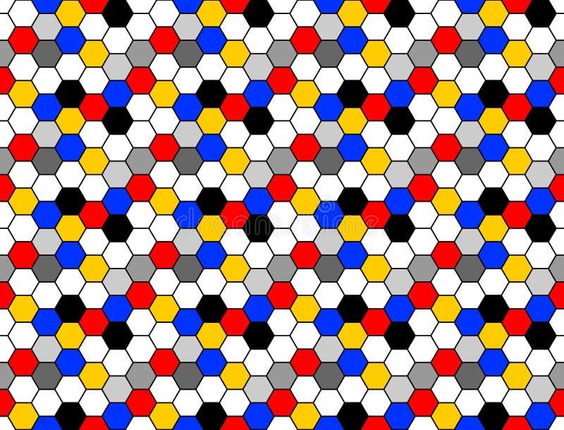 Design seamless colorful mosaic hexagon pattern royalty free illustration